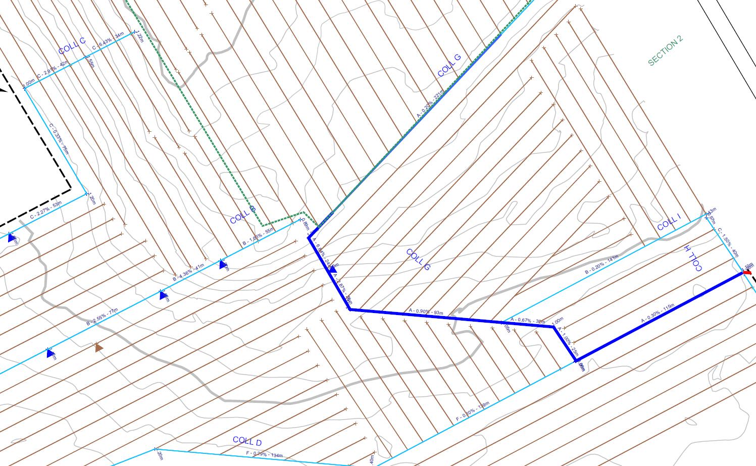 Exemple de plan de drainage